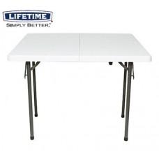 AT-BS4-1 미국 라이프타임 정품 2~4명/상판접이식 레저용 테이블/레저용, 오토캠핑용, 가정용, 다용도멀티테이블
