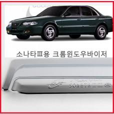 경동 소나타3 크롬윈도우바이져 [K-674] /크롬썬바이저/크롬선바이저/크롬몰딩/몰딩셋트/크롬튜닝 자동차용품