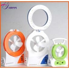 홍진테크 충전용 LED랜턴 겸용 선풍기 HJ-L500-R