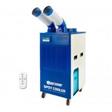 산업용 2구 코끼리 이동식 에어컨 (리모컨) 15평형(실외기 필요없이 설치가능) HIA-K02 (블루) 【 냉방/제습/송풍 】