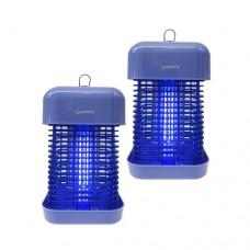 【신제품】 야외 실내 13~18 평형 풀스트링 전자 전격 살충기 HV-432BL (블루) 줄당김 스위치