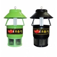 【 후지카 】포집 포충기 30평형 (야외용·실내외겸용) FU-1513 (녹색│블랙) 【 해충박멸, 스틸 강철판 】