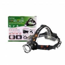 1300 루멘 LED 충전 줌 헤드랜턴 (전지겸용) HV-24HD