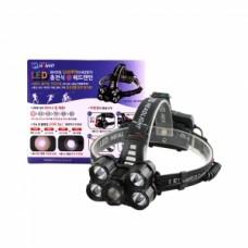 5200루멘 LED 충전 줌 헤드랜턴 HV-25HD